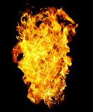 Fire photo on a black background Stock Photography