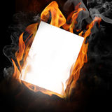 Fire photo frame Stock Photos