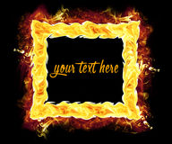 Fire Photo Frame Royalty Free Stock Image