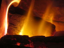 Fire. Photograph of log fire Royalty Free Stock Photo