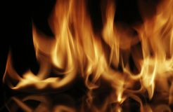 Fire. Photographed on a black background fire background image Stock Photography