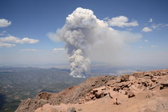 Fire from Pikes Peak Royalty Free Stock Images