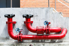 Fire pipeline. Or fire safety outdoor stock photo