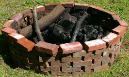 Fire Pit. A fire pit in the day time Royalty Free Stock Photography