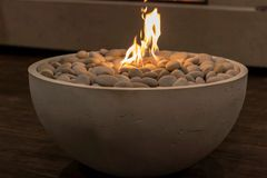 Fire Pit. A small pit of fire at ids15 Royalty Free Stock Photography