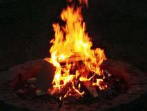 Fire pit in the summer Royalty Free Stock Photos