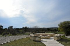 Fire Pit on top of a mountain. In South Texas royalty free stock photography