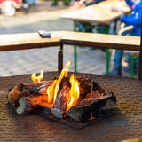 Fire pit on the weekly market Royalty Free Stock Photos