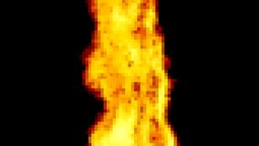Fire pixelated big flame stock video footage