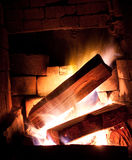 Fire place. Warm fire place with wood stock photography