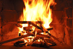 Fire-place Stock Image