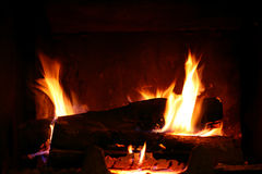 Fire place. A Fire place on fire stock photography
