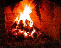 Fire Place. Heating the place in winter royalty free stock photography