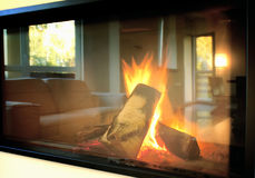 Fire place Stock Image