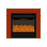 Fire place. Single isolated fire place on a white background Stock Images