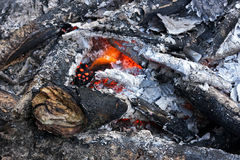 The fire place close up. Royalty Free Stock Photos