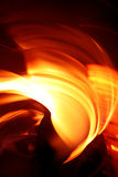 Fire place effect Stock Photo