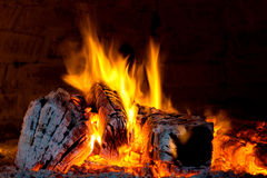 Fire place. Open fire place in a pizza oven royalty free stock photography