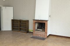 Fire place with out fire. An fire place with out any fire full of wood royalty free stock images
