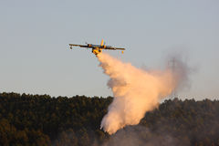 Fire plane Royalty Free Stock Images