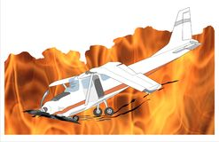 Fire plane crash Royalty Free Stock Photos
