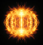 Fire planet. Fire illusion, photo-graphic abstraction Royalty Free Stock Photos