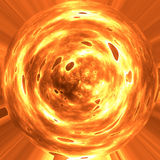 Fire planet expolding. Image of fire or burning planet or orb Royalty Free Stock Images