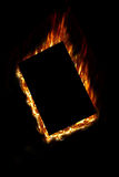 Fire plate. Isolated on the black Royalty Free Stock Photo