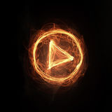 Fire play icon Royalty Free Stock Images