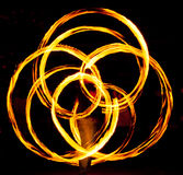 Fire poi in action stock images