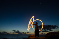 Fire poi Stock Photography