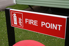 Fire point sign Royalty Free Stock Photography