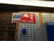 Fire point sign Royalty Free Stock Photo
