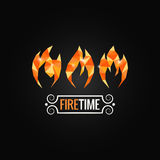 Fire poly design background Royalty Free Stock Photos