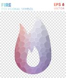 Fire polygonal symbol. Amazing mosaic style symbol. remarkable low poly style. Modern design. fire icon for infographics or presentation Royalty Free Stock Image