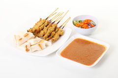 Fire pork grill and chili sauce Royalty Free Stock Images