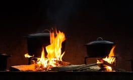 Fire pots Stock Images