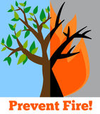 Fire. Prevent wildfire banner. Stop fire vector image. Wildfire alert Royalty Free Stock Photo