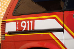 Fire Prevention. Fire department vehicle used for fire prevention education Stock Photography