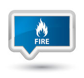 Fire prime blue banner button. Fire isolated on prime blue banner button abstract illustration Royalty Free Stock Image
