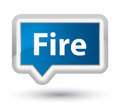 Fire prime blue banner button. Fire isolated on prime blue banner button abstract illustration Royalty Free Stock Images