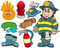Fire protection collection. Illustration Royalty Free Stock Image