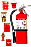 Fire protection collection Stock Image