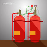 Fire Protection Stock Photo