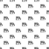 Fire protection in file store pattern. Simple illustration of fire protection in file store vector pattern for web Royalty Free Stock Photo