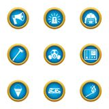 Fire protection icons set, flat style. Fire protection icons set. Flat set of 9 fire protection vector icons for web isolated on white background vector illustration