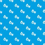 Fire protection pattern vector seamless blue. Repeat for any use Royalty Free Stock Photography