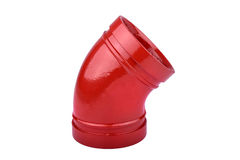 Fire Protection Pipe Fitting flange Royalty Free Stock Image