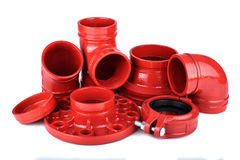 Fire Protection Pipe Fitting flange Stock Photos