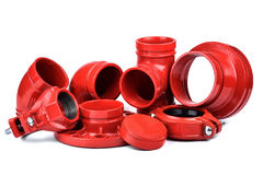Fire Protection Pipe Fitting flange Stock Photo
